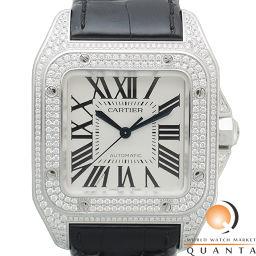 CARTIER【カルティエ】 WM501751 腕時計 K18ホワイトゴールド/純正革ベルト メンズ