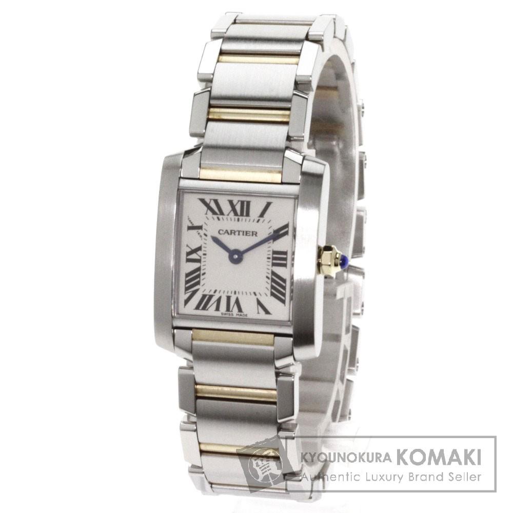 CARTIER【カルティエ】 フランセーズSM タンク 腕時計 K18イエローゴールド/SS/SS レディース