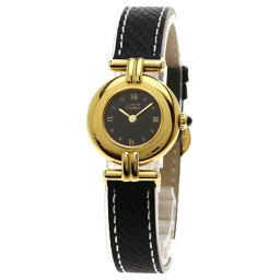 CARTIER【カルティエ】 腕時計 GP/革/革 レディース