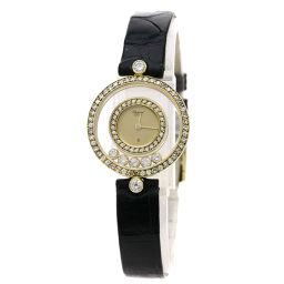 Chopard【ショパール】 20/3957 腕時計 K18イエローゴールド/革/革ダイヤモンド レディース
