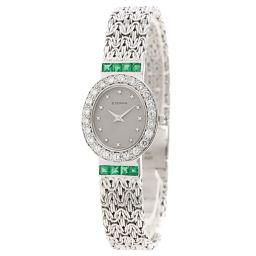 Eterna【エテルナ】 腕時計 K18ホワイトゴールド/K18ホワイトゴールド/K18WGダイヤモンド レディース