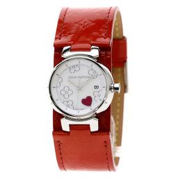 LOUIS VUITTON【ルイ・ヴィトン】 Q121A 腕時計 ステンレススチール/ヴェルニ/ヴェルニ レディース