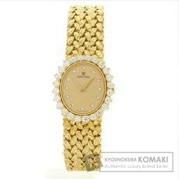 WALTHAM【ウォルサム】 オーバル 腕時計 K18イエローゴールド/K18イエローゴールド/K18イエローゴールドダイヤモンド レディース