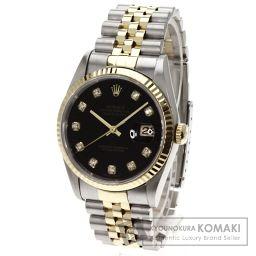 ROLEX【ロレックス】 10Pダイヤモンド デイトジャスト 腕時計 ステンレス/SSxK18YG/SSxK18YG メンズ