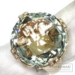 BVLGARI【ブルガリ】 パレンテシカクテル グリーンクォーツ/ダイヤモンド リング・指輪 K18ピンクゴールド レディース
