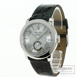 ROLEX【ロレックス】 7697 腕時計 プラチナPT950/クロコダイル/クロコダイル メンズ