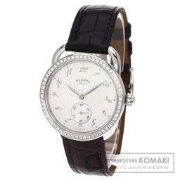 HERMES【エルメス】 アルソー 腕時計 ステンレス/アリゲーター/アリゲーター メンズ