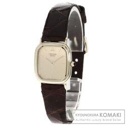 SEIKO【セイコー】 クレドール 腕時計 K18イエローゴールド/革/革 レディース