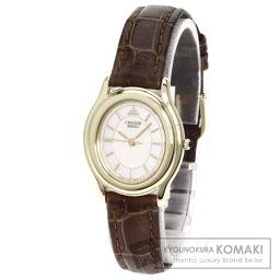 SEIKO【セイコー】 クレドール 腕時計 K18イエローゴールド/クロコダイル/クロコダイル レディース