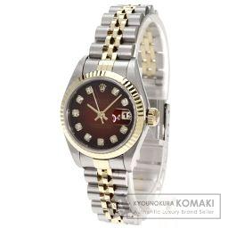 ROLEX【ロレックス】 ダイヤモンド デイトジャスト 腕時計 K18イエローゴールド/SS/SS レディース