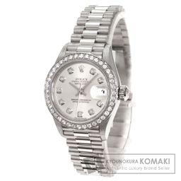 ROLEX【ロレックス】 ダイヤモンド デイトジャスト 腕時計 K18ホワイトゴールド/K18WG/K18WG レディース