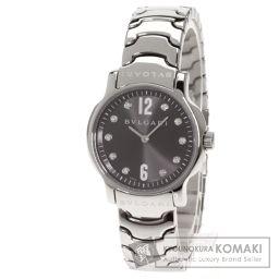 BVLGARI【ブルガリ】 ソロテンポ 10Pダイヤモンド 腕時計 ステンレス/SS/SS レディース