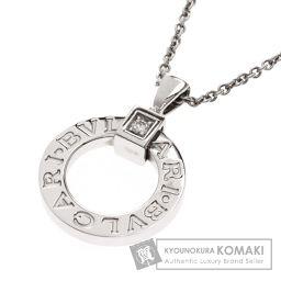 BVLGARI【ブルガリ】 ブルガリブルガリ 1Pダイヤモンド ネックレス K18ホワイトゴールド レディース