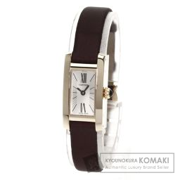 CARTIER【カルティエ】 アロンジェ タンク 腕時計 K18ピンクゴールド/サテン/サテン レディース