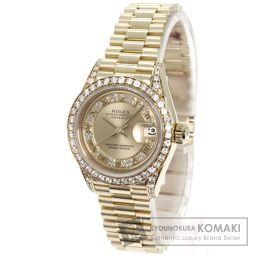 ROLEX【ロレックス】 デイトジャスト ダイヤモンド 腕時計 2702/K18YG/K18YG レディース