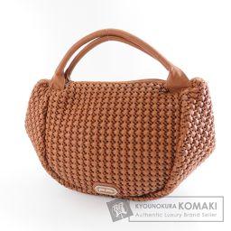 Folli Follie【フォリフォリ】 編み込みデザイン ハンドバッグ 合成皮革 レディース