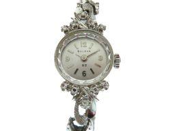 【】 14K無垢 腕時計 K14ホワイトゴールド/ダイヤモンド レディース