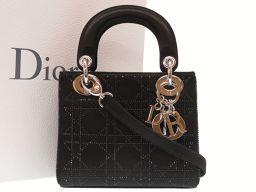 Christian Dior【クリスチャンディオール】 ハンドバッグ サテン/ラインストーン レディース