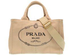 PRADA【プラダ】 8090 ハンドバッグ キャンバス/キャンバス レディース