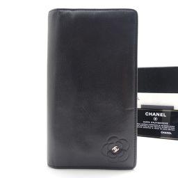 CHANEL【シャネル】 二つ折り財布(小銭入れあり) レザー ユニセックス