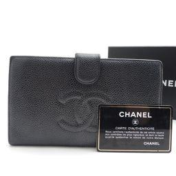 CHANEL【シャネル】 長財布(小銭入れあり) キャビアスキン レディース