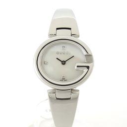 GUCCI【グッチ】 YA134504 グッチッシマウォッチ 3Pダイヤ  グッチシマ 腕時計 SS/ホワイトシェル レディース