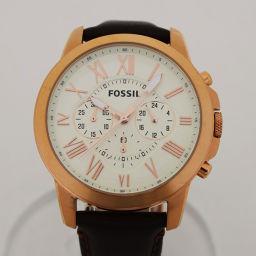 FOSSIL【フォッシル】 腕時計 レザー/ステンレススティール メンズ