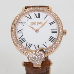 Folli Follie【フォリフォリ】 腕時計 /レザー/ミネラルクリスタルガラス レディース