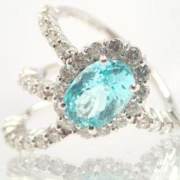 SELECT JEWELRY【セレクトジュエリー】 リング・指輪 Pt 900/ダイヤモンド/パライバトルマリン レディース
