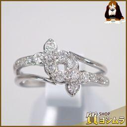 SELECT JEWELRY【セレクトジュエリー】 フラワー リング・指輪 Pt 900/ダイヤモンド レディース