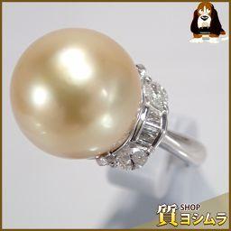 SELECT JEWELRY【セレクトジュエリー】 デザイン リング・指輪 ゴールデンパール/Pt900/ダイヤモンド レディース