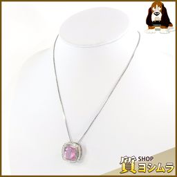 SELECT JEWELRY【セレクトジュエリー】 ネックレス クンツァイト/ダイヤモンド/Pt850/Pt900 レディース