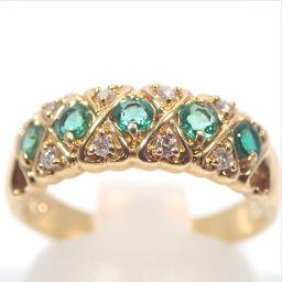 SELECT JEWELRY【セレクトジュエリー】 デザイン リング・指輪 2691/エメラルド/ダイヤ レディース