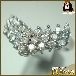SELECT JEWELRY【セレクトジュエリー】 V字 リング・指輪 Pt 900/ダイヤモンド レディース