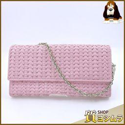 Dior【ディオール】 チェーンウォレット 長財布(小銭入れあり) レザー レディース