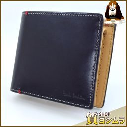 Paul Smith【ポール・スミス】 PSU874 二つ折り財布(小銭入れあり) レザー メンズ