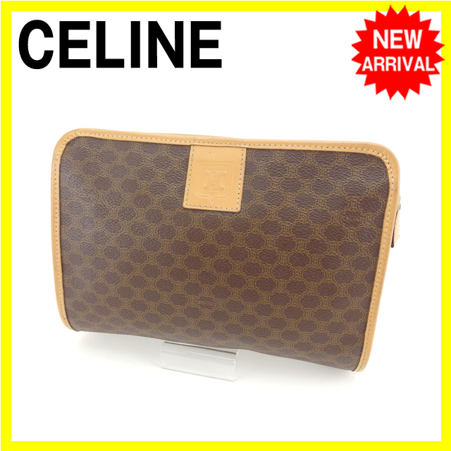 bc855c7ef4 Celine CELINE busineStainless Steel bag Clutch bag Men s Available Macadam  Brown x Beige x Gold PVC x Leather Goods  Pre  D1343 Clutch bag unisex