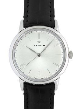 ZENITH【ゼニス】 7545 SS/ レザー 03.2290.679/01.C493 メンズ