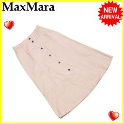 MAX MARA【マックスマーラ】 マックスマーラ MaxMara スカート フレアー レディース ウィークエンドライン センターボタン ベージュ C/100% 超セール 美品 【中古】 J15143 スカート  レディース
