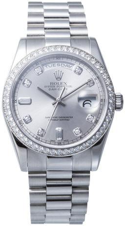ROLEX【ロレックス】 118346 腕時計 プラチナ メンズ