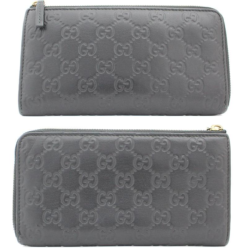 7a508022a0 GUCCI  Gucci  Gucci Sima Kožená dlouhá peněženka ve tvaru písmene L ...