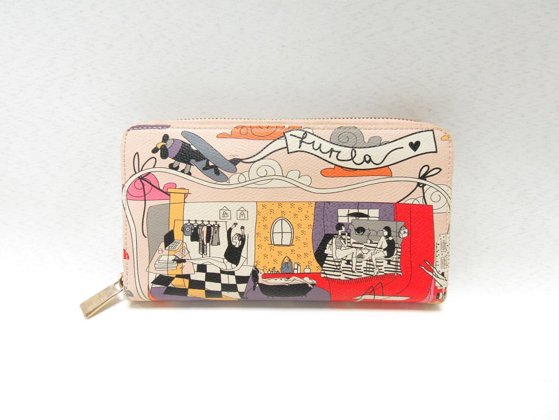 huge selection of 17e92 13da7 FURLA Furura Round Purse Wallet Multicolor PVC Coating [Pre ...