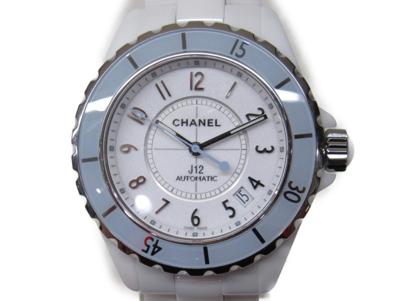 info for 24ccf e8669 CHANEL シャネル J12 38 ソフトブルー 腕時計 ウォッチ H4341 ...