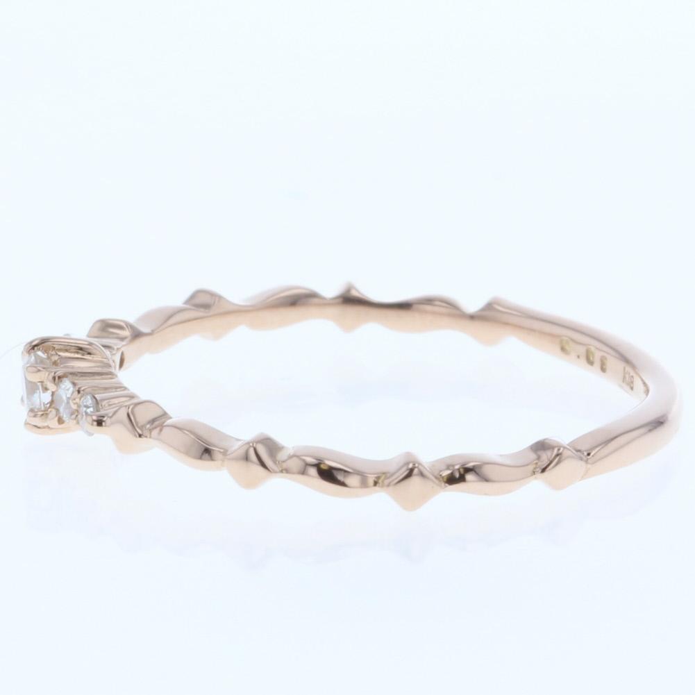 2f453862a2cbec アガット agete ダイヤモンド 0.08ct リング・指輪 K18ピンクゴールド ...