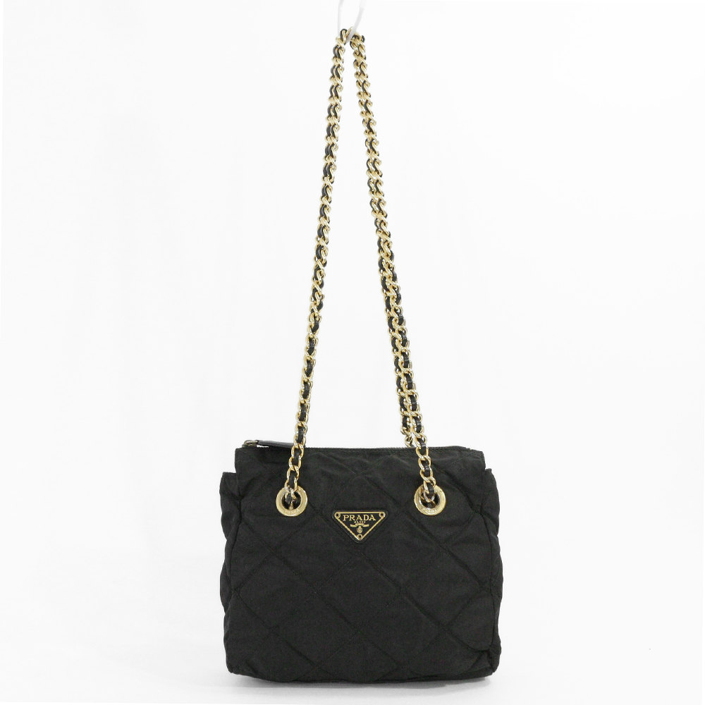 9144bd99d0ae Prada chain quilted shoulder bag · TESSUTO INPUNTURATO / B2384 / NERO  (black) / PRADA next day delivery possible □ 203880 ー The best place to buy  Brand ...