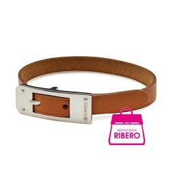HERMES Kelly Aldion Bracelet Leather Brown × Silver Hardware Size SA USED