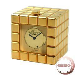 ショパール アイスキューブ Ref51/8898-00 アラーム付置時計 トラベルクロック USED