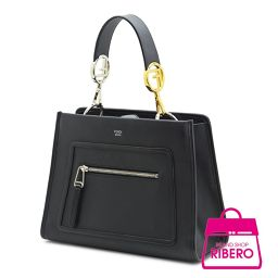 Fendi Runaway Small 2 Way Handbag Leather Black 8 BH 344 A