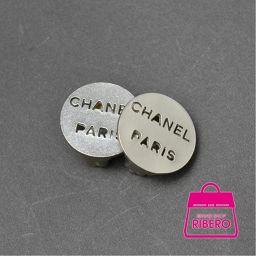 シャネル ラウンド CHANEL PARIS ココマーク イヤリング シルバー 箱付 程度A USED【中古】