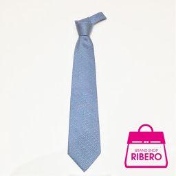 Louis Vuitton Cravatt Logo Tie Blue Silk Around 100% A USED [pre]
